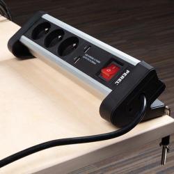 MULTIPRISE DE TABLE - 3 PRISES - 2 PORTS USB  19.90 € TTC